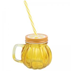 Vaso con Tapa Naranja